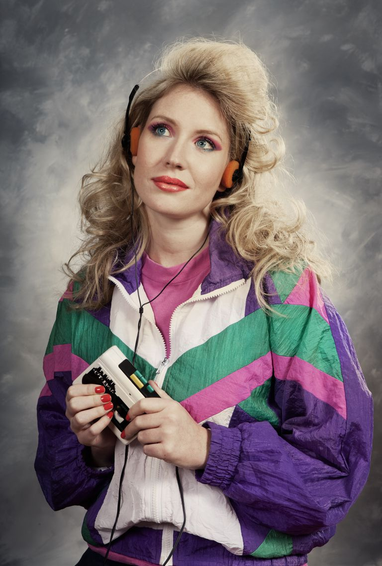 woman with walkman