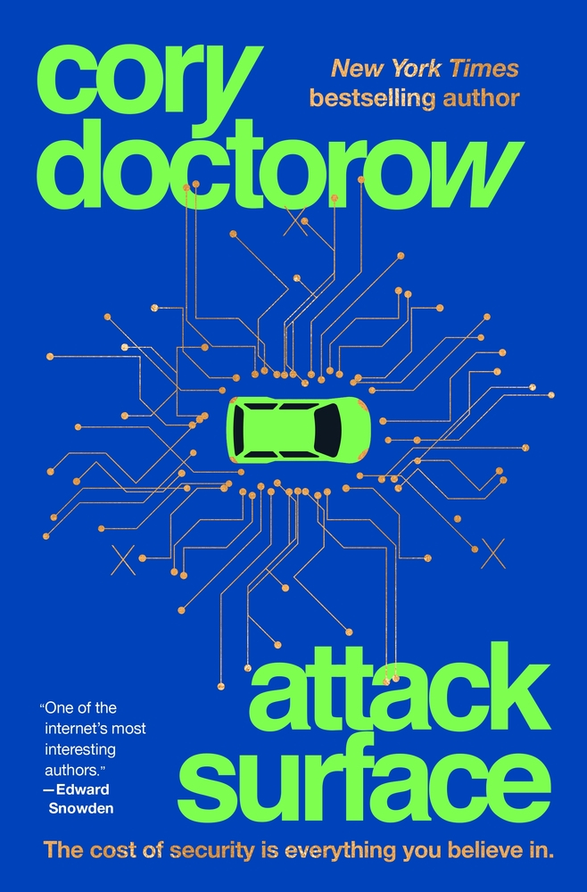 the cover is blue with green text of the title and author