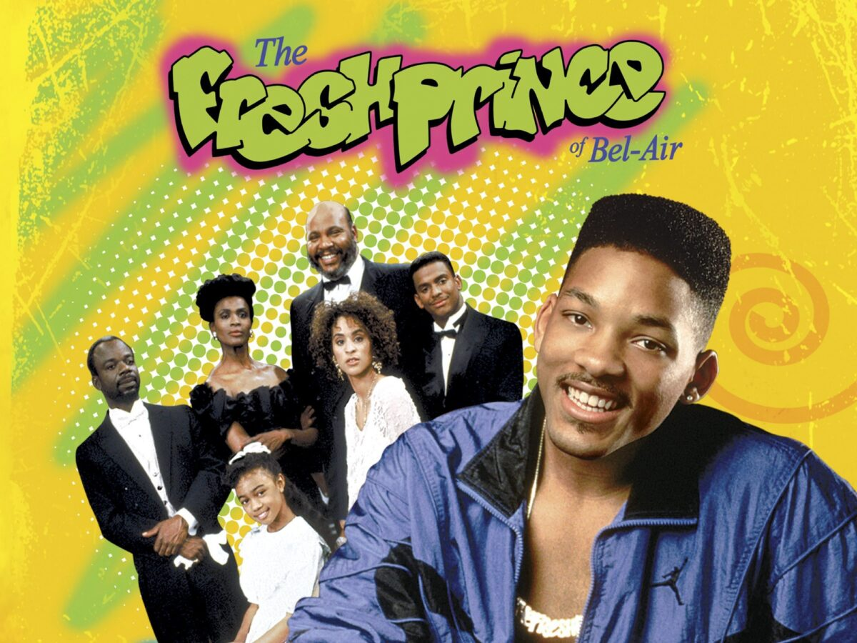 title card for Fresh Prince of Bel-Air showing the whole cast